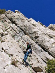 Frankreich Baume Rousse Achim Brixendorf Klettern