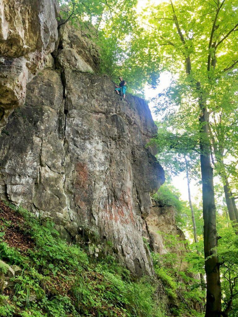 Deutschland Klettern Kanstein Pfingskante
