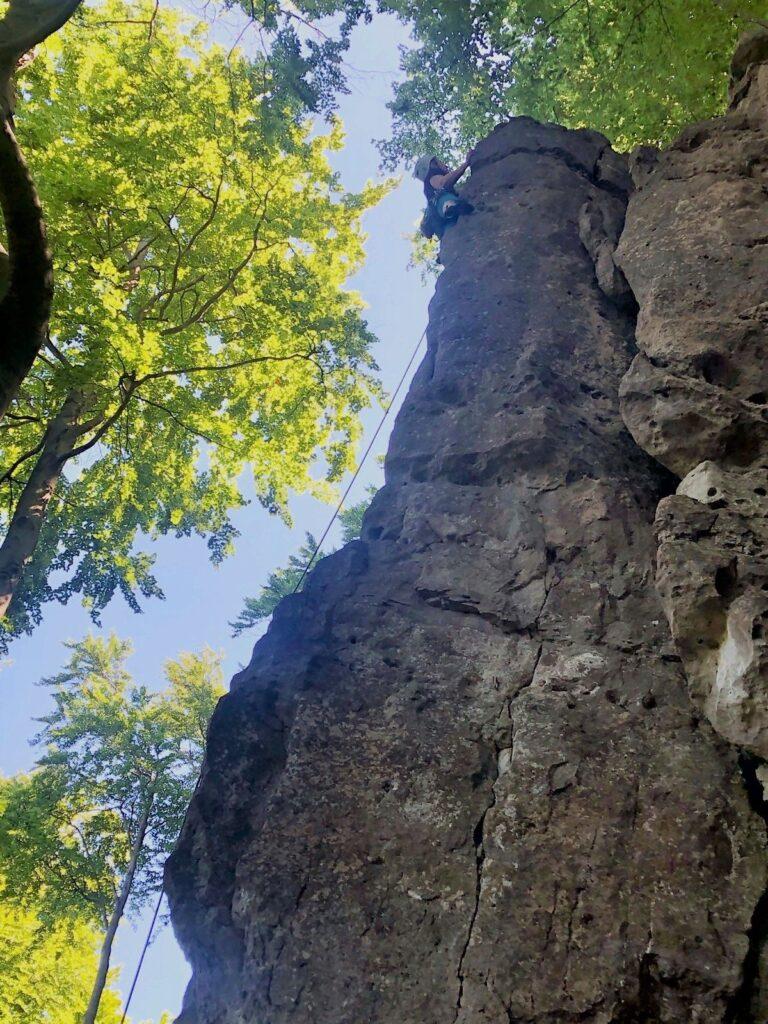 Deutschland Klettern Kanstein Pfingskante Maike Brixendorf