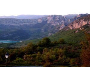 Frankreich Aiguines Klettern Galetas