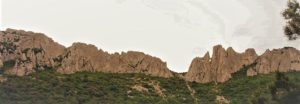 Frankreich Klettern Dentelles de Montmirail Breche de pousterle