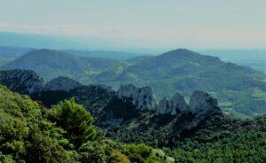 Klettern an den Dentelles de Montmirail bis 6a+