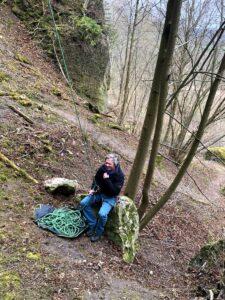 Deutschland Klettern am Römerstein Achim Brixendorf