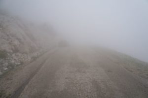 Griechenland Argolis Nafplio Klettern Didimon im Nebel